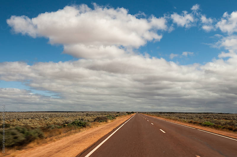road to nowhere, Outback Australia by Gillian Vann for Stocksy United
