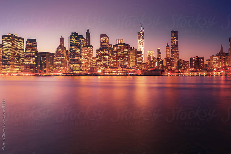 New York City Skyline - City Lights by Vivienne Gucwa for Stocksy United