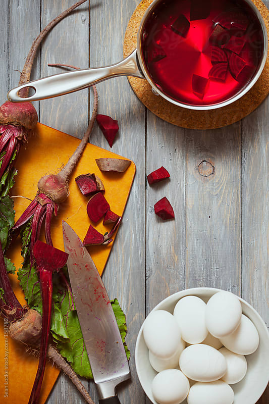 Easter: Using Beets to Color Easter Eggs Red by Sean Locke for Stocksy United