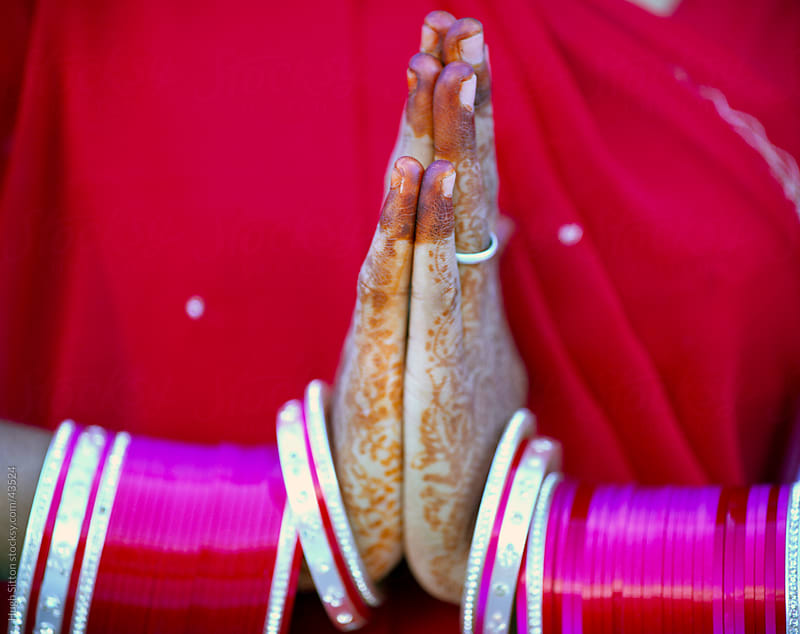 Close-up of Indian woman's hands. by Hugh Sitton for Stocksy United