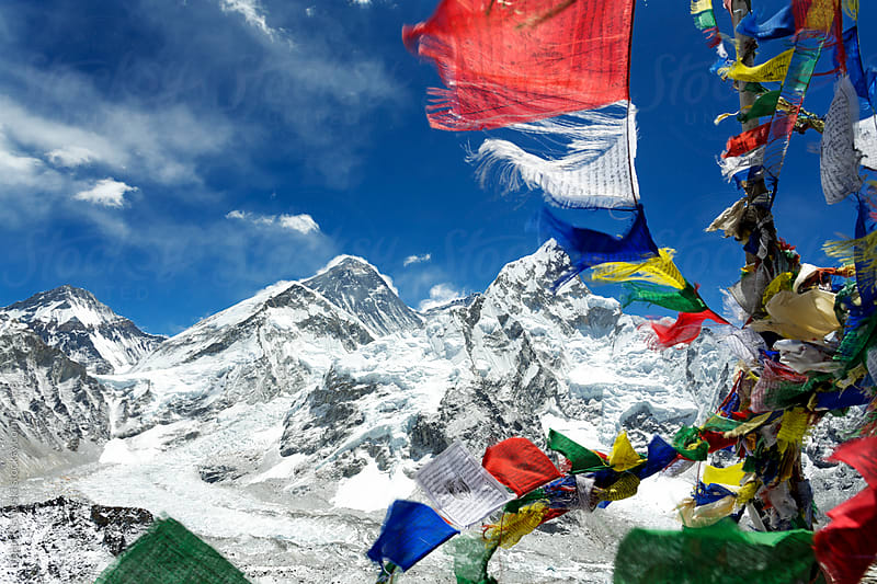View of Mt. Everest and Nuptse by Dejan Ristovski for Stocksy United