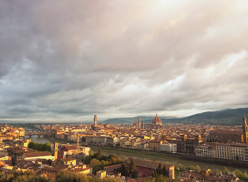 Florence cityscape by Simone Becchetti for Stocksy United