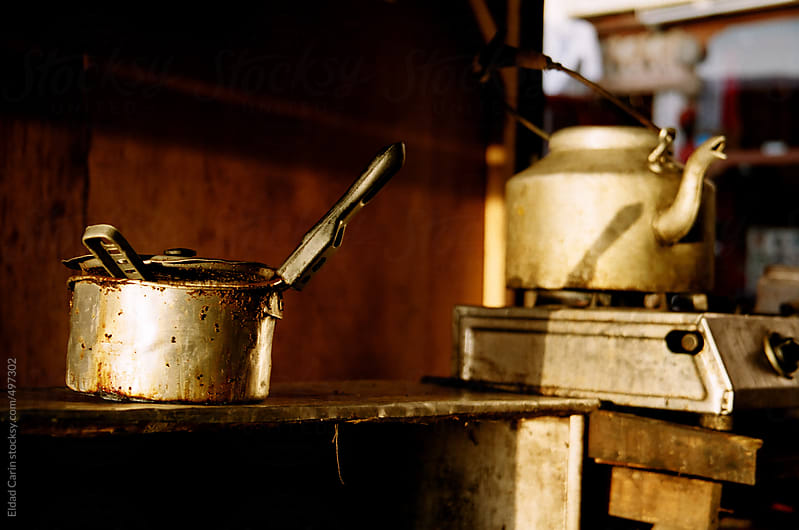 Indian Chai Shop Pot and Kettle by Eldad Carin for Stocksy United