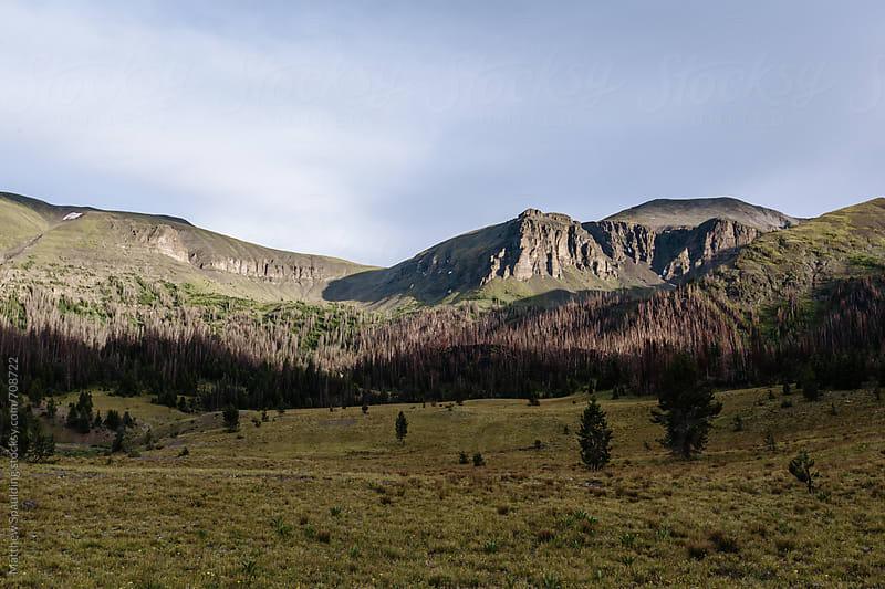Wilderness mountain landscape scenic by Matthew Spaulding for Stocksy United
