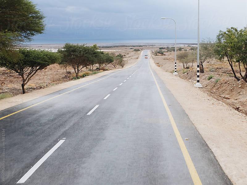 Israeli road to the Dead sea by Anna Malgina for Stocksy United