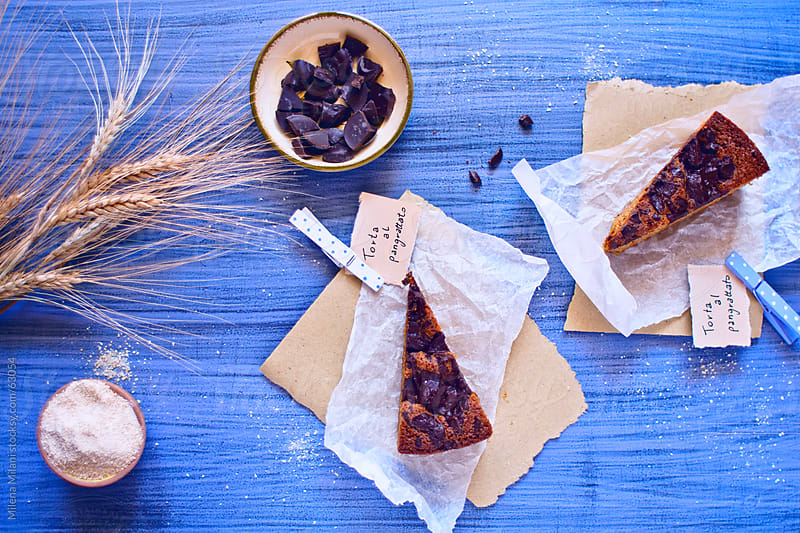 Breadcrumbs cake with chocolate chunks by Milena Milani for Stocksy United