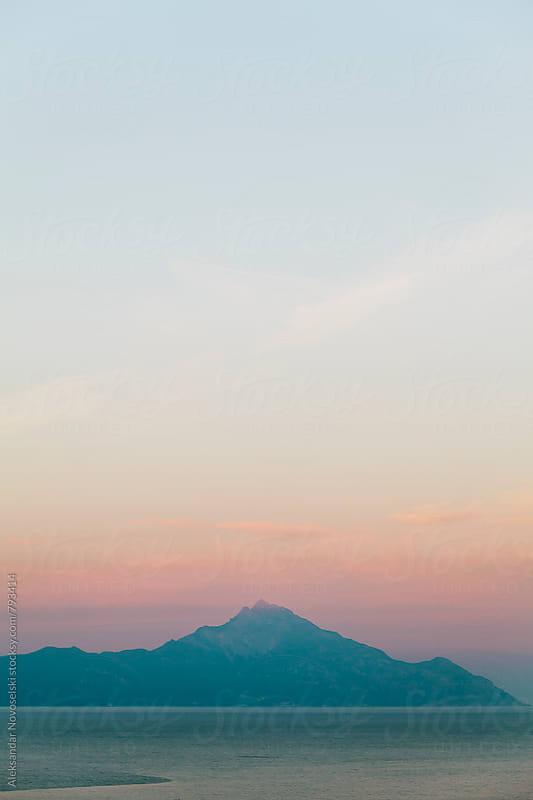 Minimalist landscape in Greece, by dusk by Aleksandar Novoselski for Stocksy United