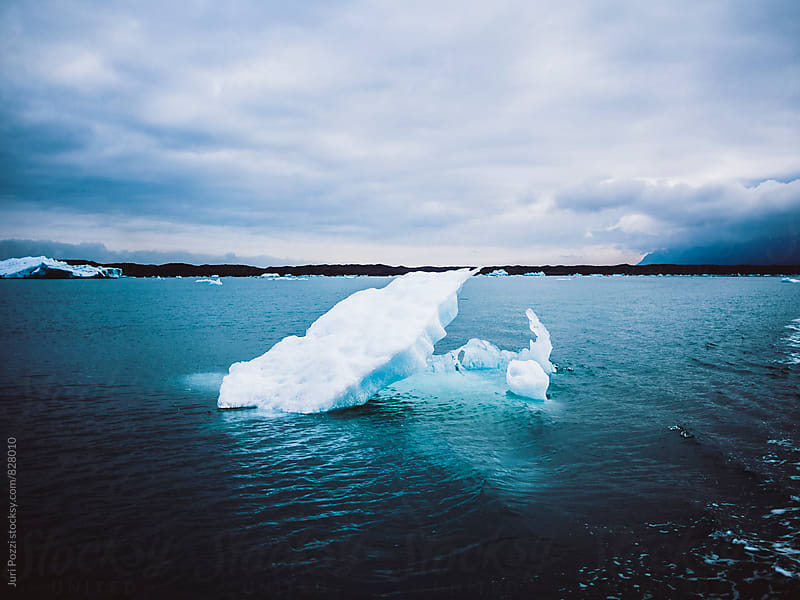 Iceberg in iceland by Juri Pozzi for Stocksy United