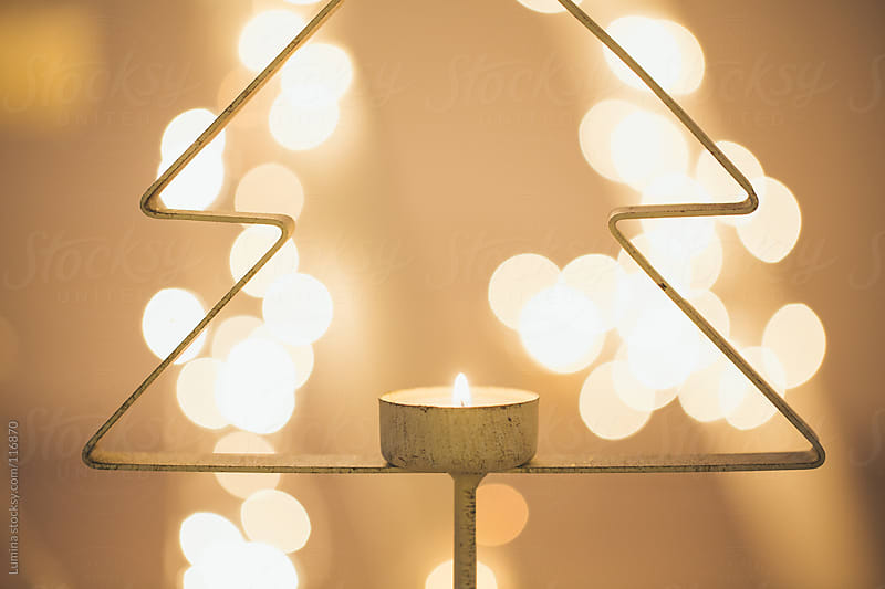 Christmas Tree Candle by Lumina for Stocksy United