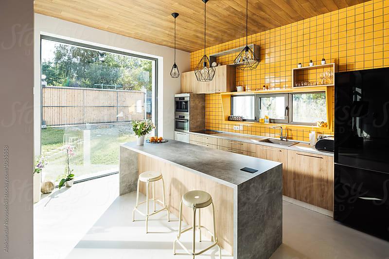 Contemporary kitchen by Aleksandar Novoselski for Stocksy United