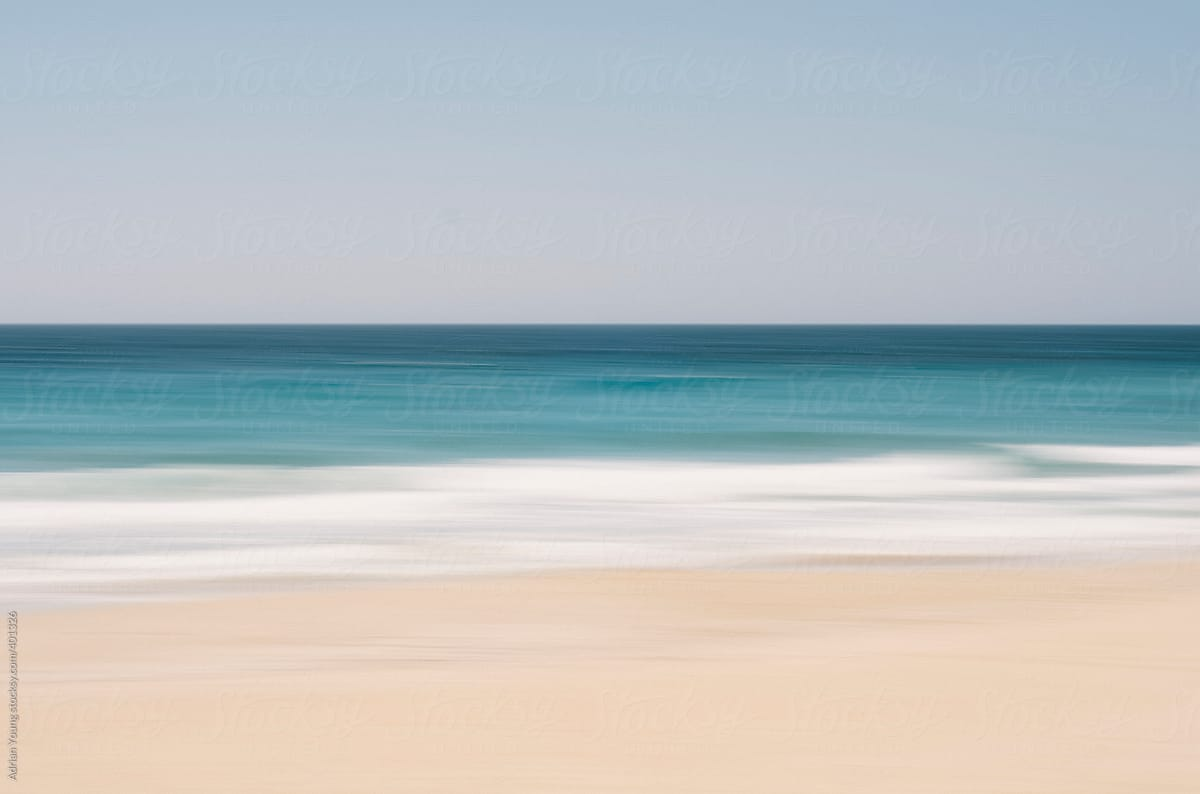Blurred Ocean and Beach View