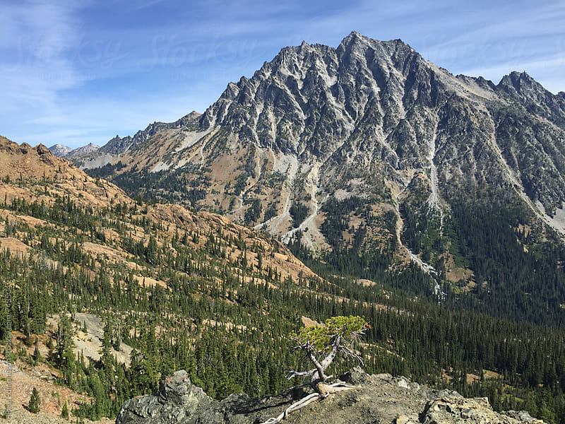 View of Mount Stuart from Longs Pass, Central Cascades, WA by Paul Edmondson for Stocksy United