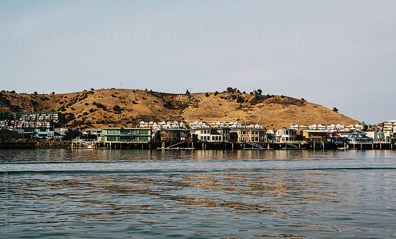 Row of houses in San Francisco Bay as seen from the sea.  by kkgas for Stocksy United