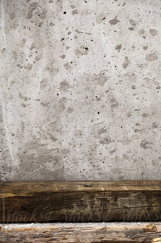 Wood Beams & Splattered Concrete Abstract by Eldad Carin for Stocksy United