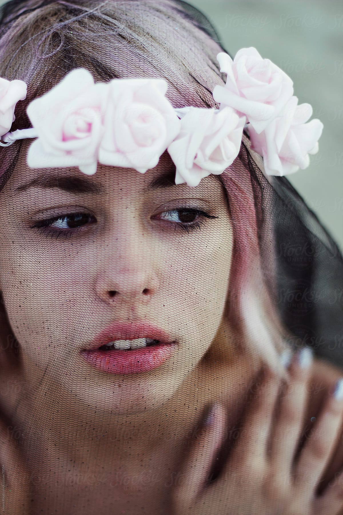 Beautiful girl with flower wreath on her head stocksy united beautiful girl with flower wreath on her head by jovana rikalo for stocksy united izmirmasajfo