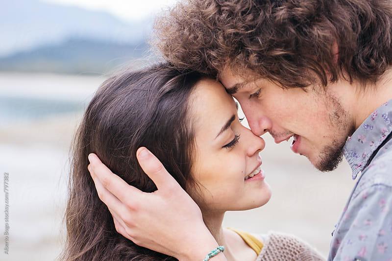 Cute couple in love by Alberto Bogo for Stocksy United