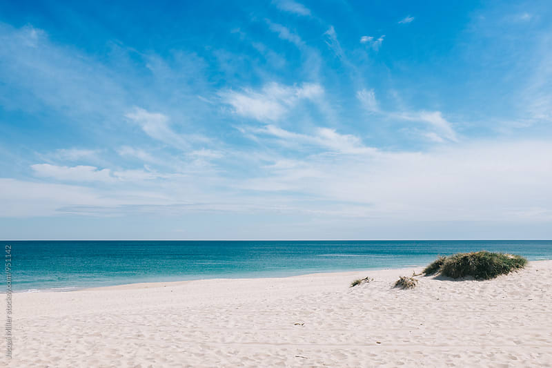 View of the ocean at midday, Ci ty Beach, Perth, Western Australia by Jacqui Miller for Stocksy United