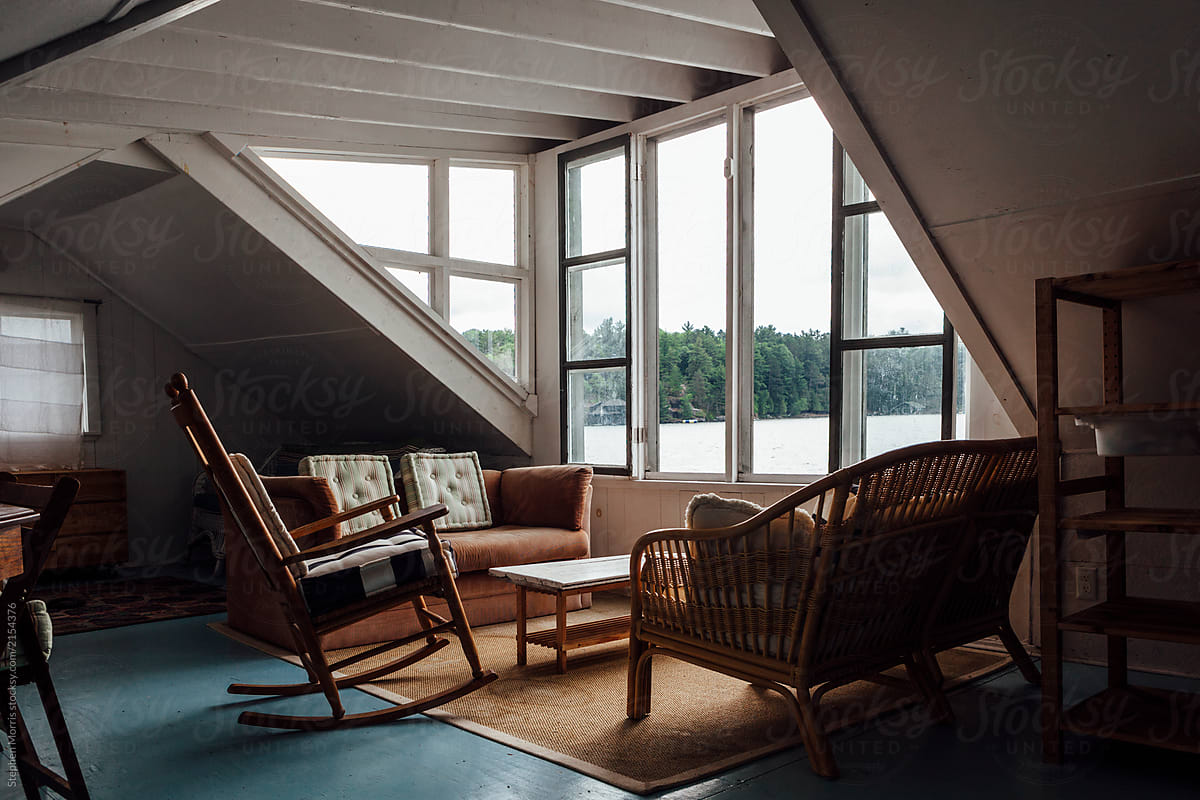 Rustic Interior Of Boathouse Loft By Stephen Morris For Stocksy United