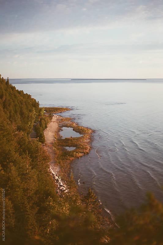 Mackinac Island and the Straits (Veritcal) by ALICIA BOCK for Stocksy United