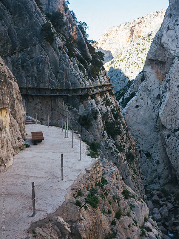 repaired camino del rey pathway by Martin Matej for Stocksy United