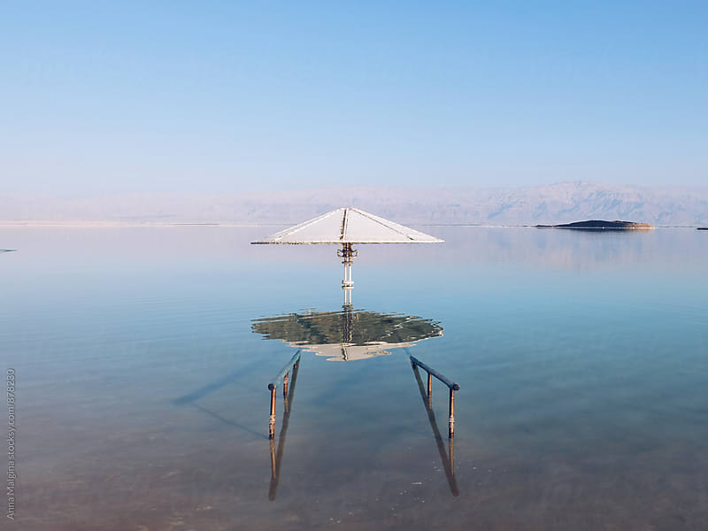 A photo of dead sea  by Anna Malgina for Stocksy United