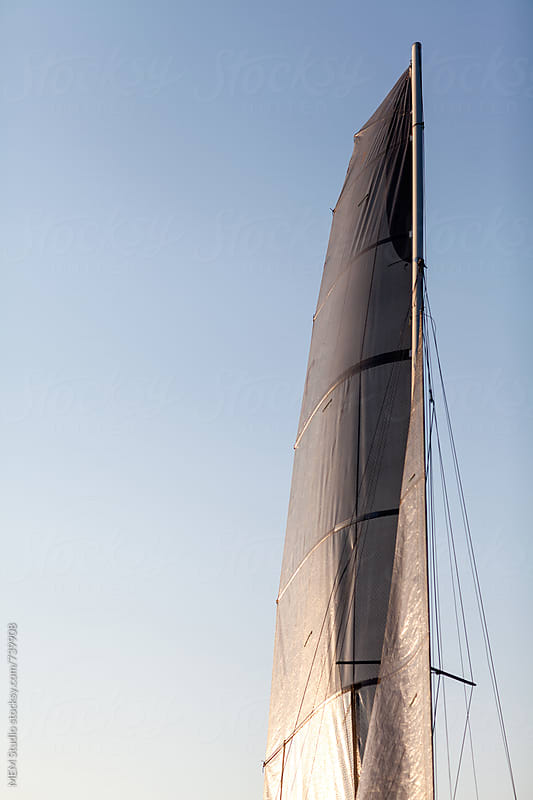 main sail on a catamaran f18 by MEM Studio for Stocksy United