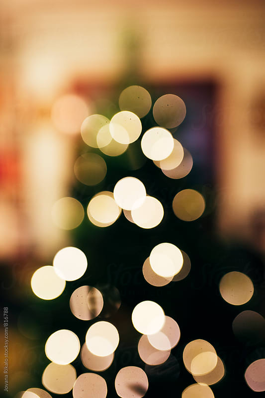 Decorated Christmas tree- bokeh by Jovana Rikalo for Stocksy United