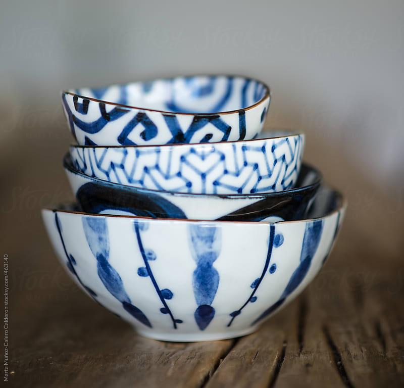 Antique handmade bowls by Marta Muñoz-Calero Calderon for Stocksy United