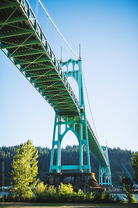 St. Johns Bridge, Oregon by Sean Horton for Stocksy United