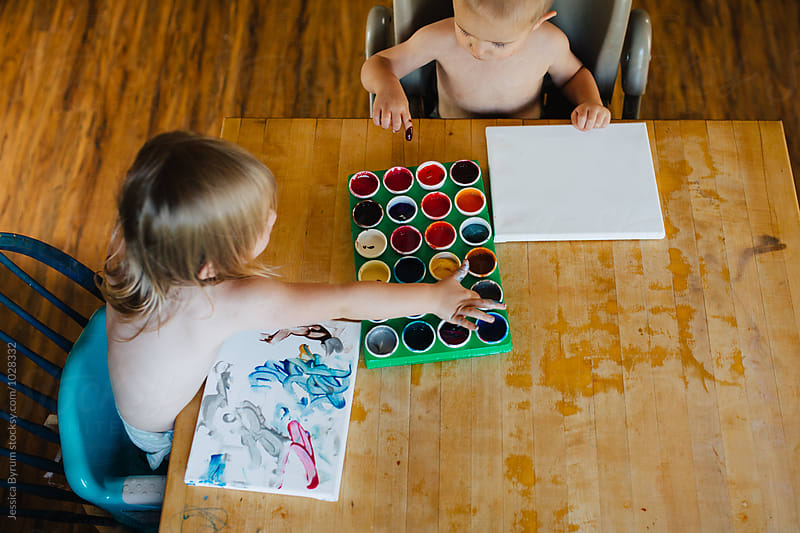 Painting Fun by Jessica Byrum for Stocksy United