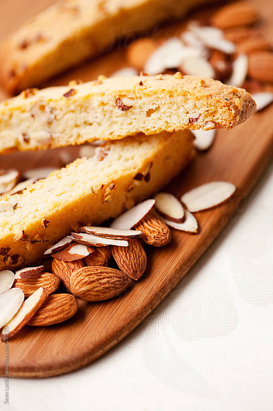 Biscotti: Biscotti with Sliced and Whole Almonds by Sean Locke for Stocksy United