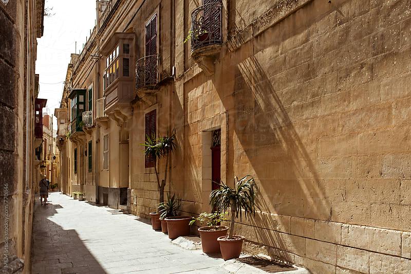 Street in Mdina, Malta by MEM Studio for Stocksy United