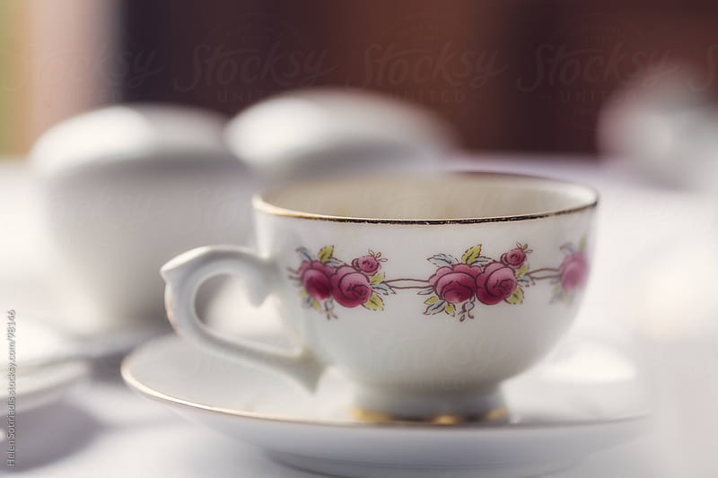 Porcelain cup and saucer by Helen Sotiriadis for Stocksy United