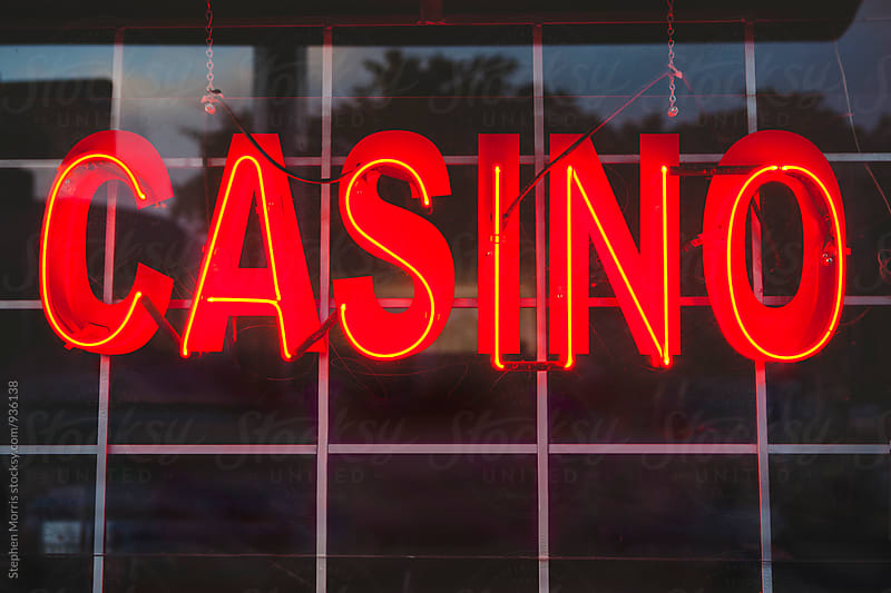 Red Neon Casino Sign by Stephen Morris for Stocksy United