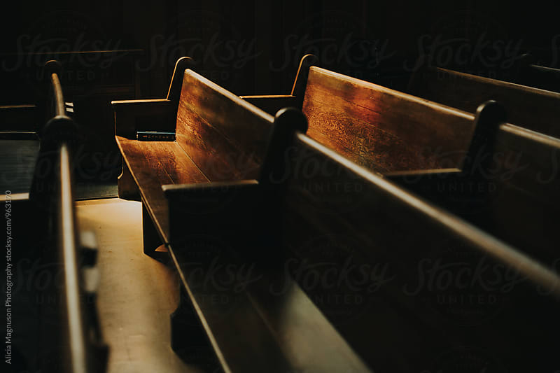 Light on Church Pews by Alicia Magnuson Photography for Stocksy United