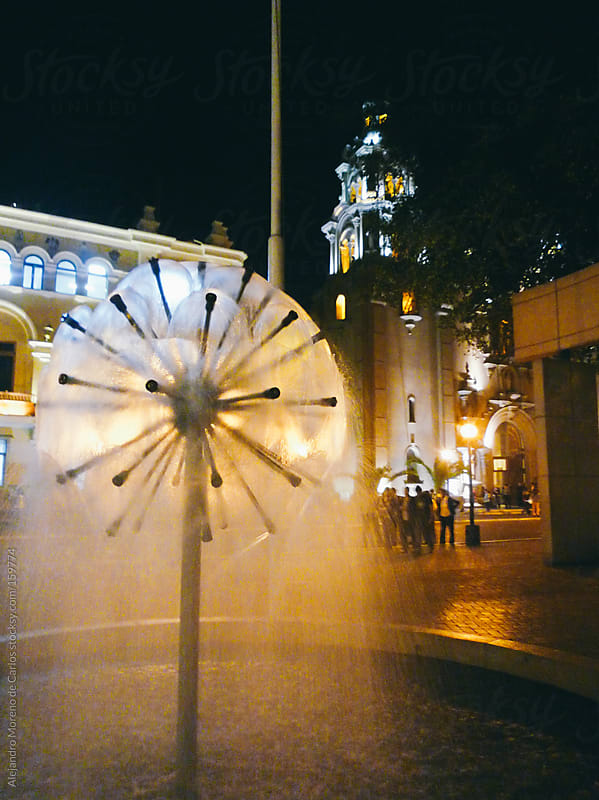 Cathedral and fountain in Lima, Peru by Alejandro Moreno de Carlos for Stocksy United