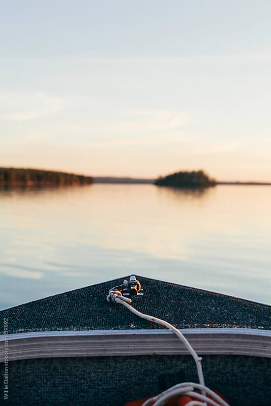 Boat Bow at Sunset by Willie Dalton for Stocksy United