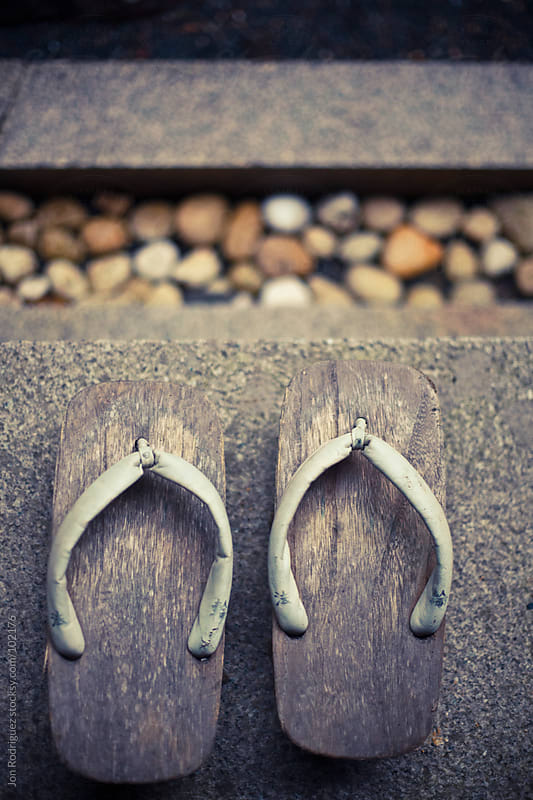 Traditional shoes in a Koyasan temple, Japan by Jon Rodriguez for Stocksy United