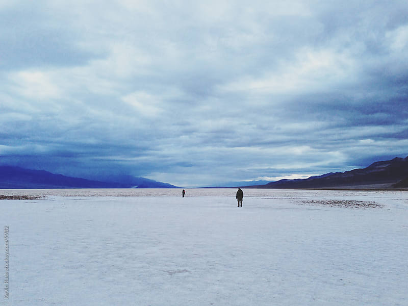 Badwater Basin Salt Flat by Kevin Russ for Stocksy United