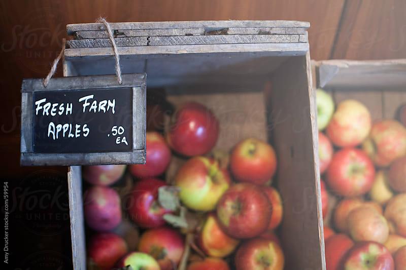 Fresh Farm Apples for Sale  by Amy Drucker for Stocksy United