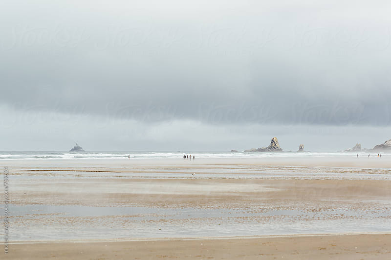 Cannon beach in a cloudy day by michela ravasio for Stocksy United