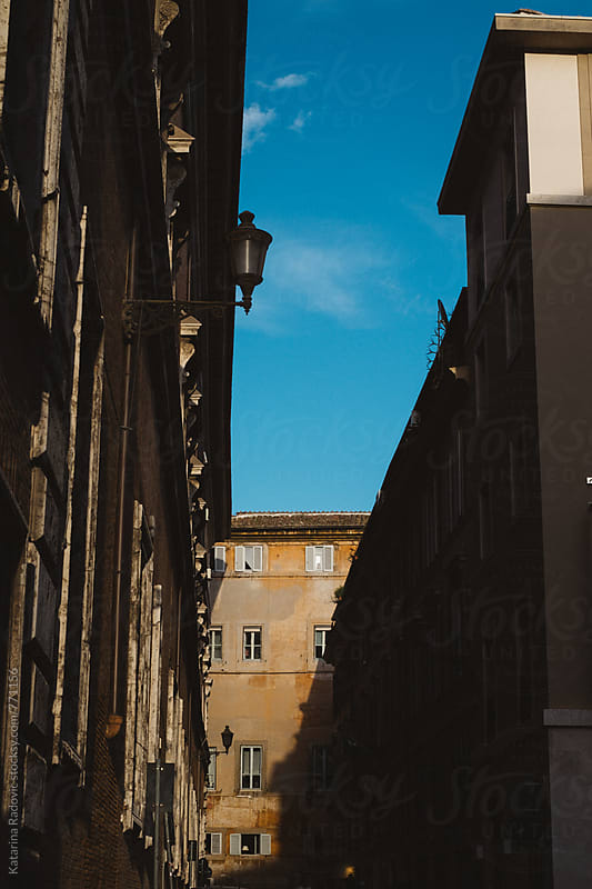 Old Roman Building in the Shadow by Katarina Radovic for Stocksy United