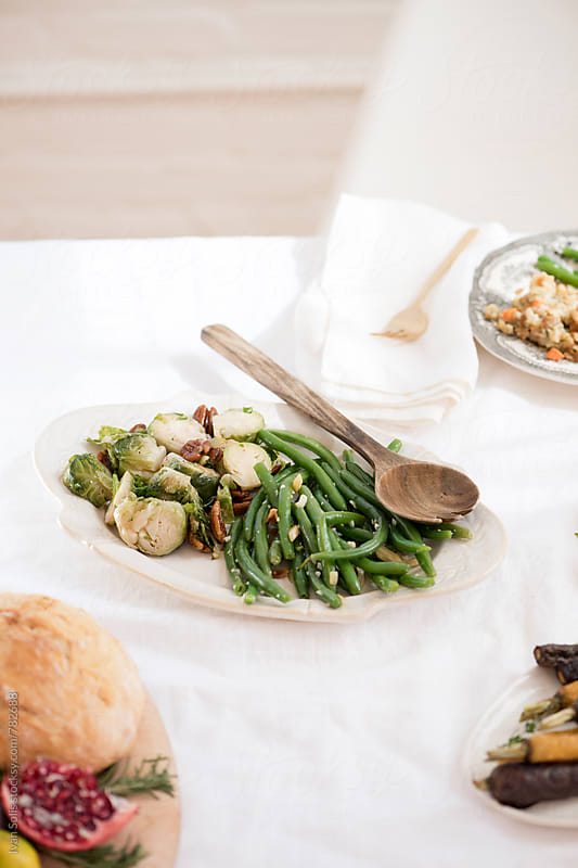 Green beans side dish by Ivan Solis for Stocksy United