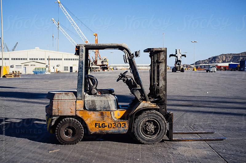 Dock Forklift by John Dunaway for Stocksy United