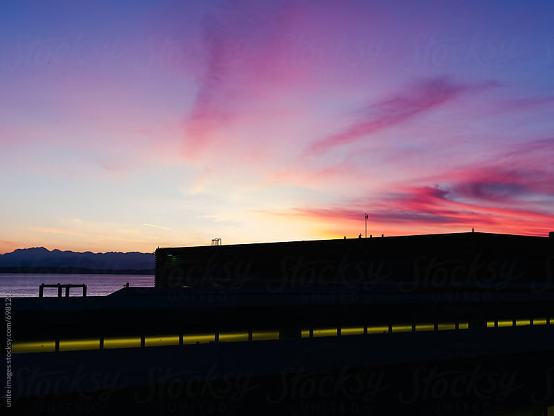 beautiful sunset at pier 66 seattle by yuanyuan xie for Stocksy United
