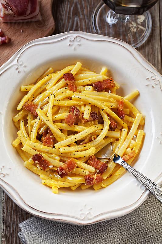 Spaghetti Carbonara by Davide Illini for Stocksy United
