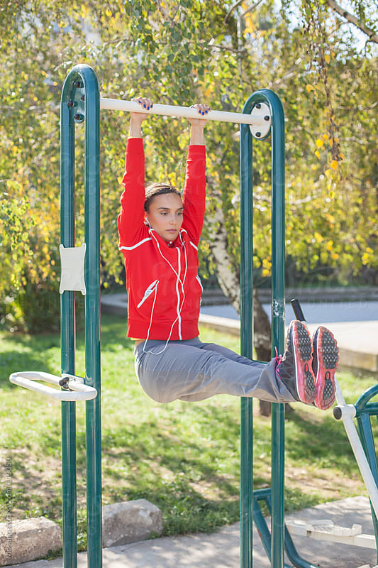 Woman Working Out in the Park by Mosuno for Stocksy United