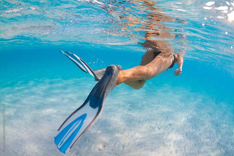 Woman snorkeling by Felix Hug for Stocksy United