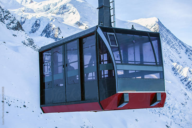 Cable car in Alps by Luca Pierro for Stocksy United
