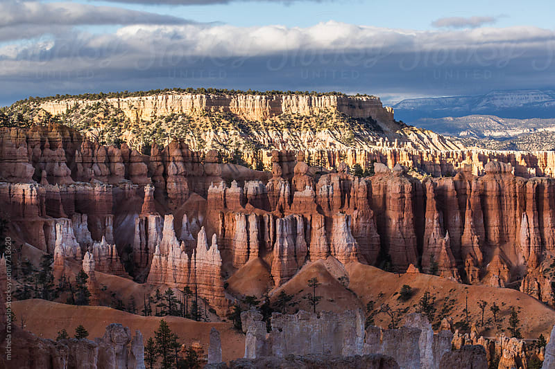 Picturesque view of the Bryce Canyon Amphitheater  by michela ravasio for Stocksy United